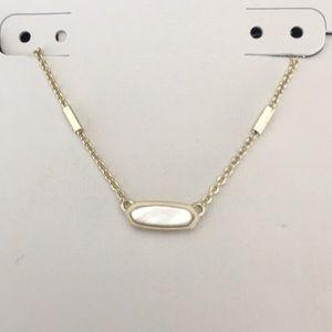 Kendra Scott Miya Necklace Ivory Pearl and Gold